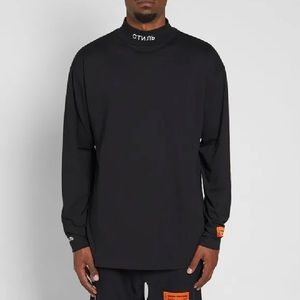 Heron Preston Long Sleeve Jersone Mock Neck Tee S